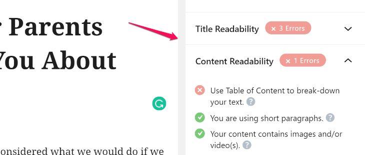 Content Analysis of RankMath WordPress Plugin