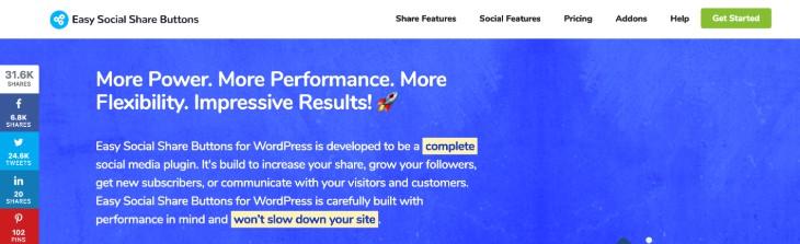 Easy Social Share Buttons WordPress Plugin