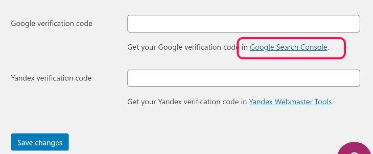 Google Search Console Verification With Yoast SEO