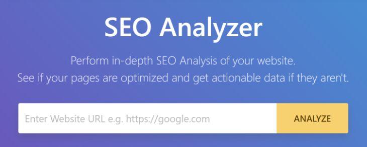 Inbuilt SEO Analyzer Tool of RankMath WordPress Plugin