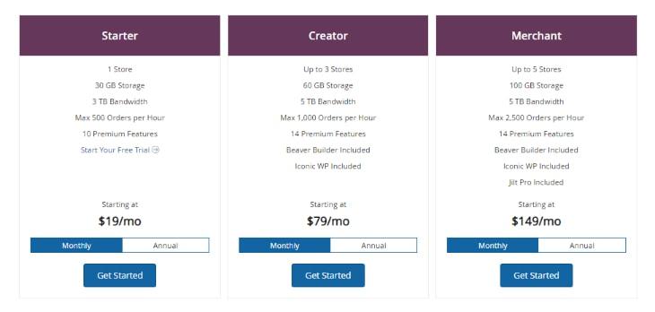 Liquid Web WooCommerce Hosting Plan