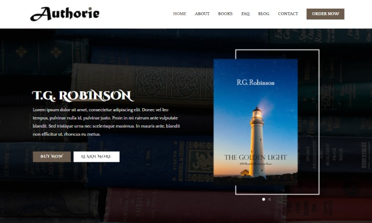 Zarka Book Author WordPress Theme