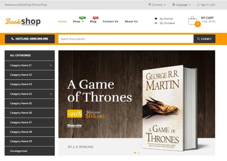 Book Shop WordPress Theme