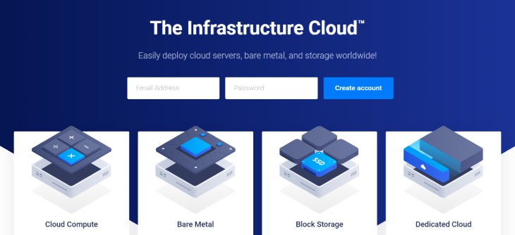 Homepage of the Vultr Website Hosting Service Provider