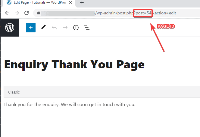 How to find page id