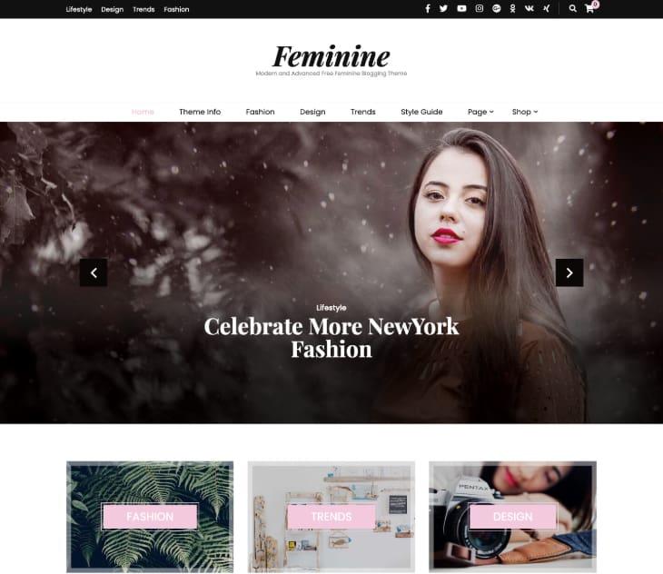 Blossom Feminine Free WordPress Theme