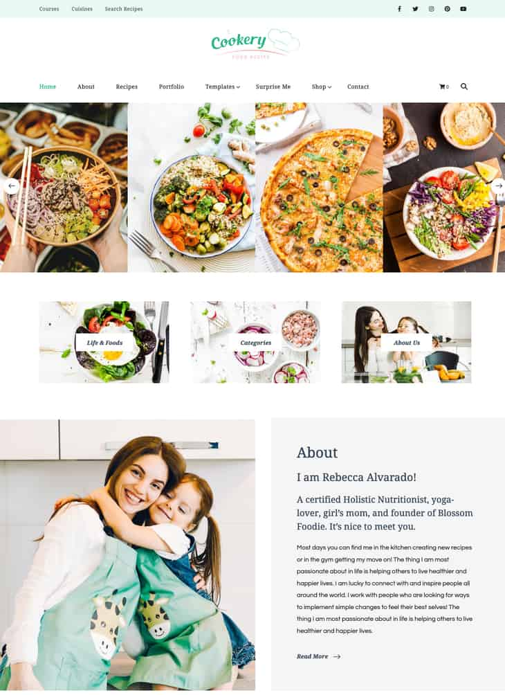 Cookery Lite WordPress Theme