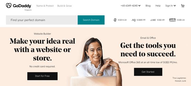 GoDaddy Domain Name Provider