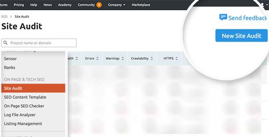New site audit