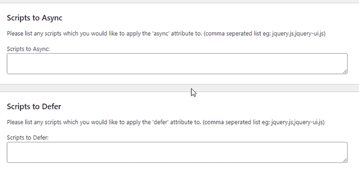 Advanced settings of async JavaScript