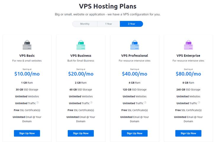 DreamHost VPS Plan