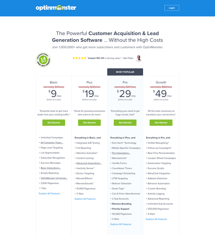 OptinMonster best plugins to add popup to WordPress