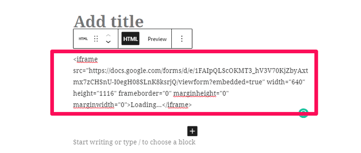 Paste the embed link