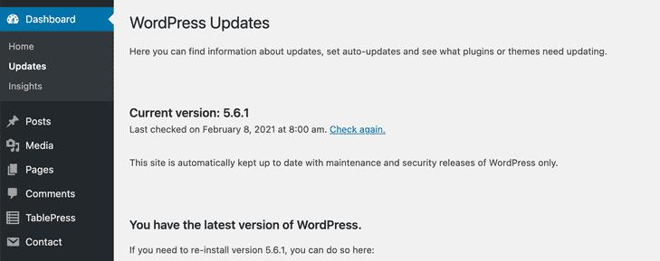 Update WordPress Site