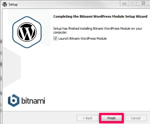 bitnami wordpress installation complete
