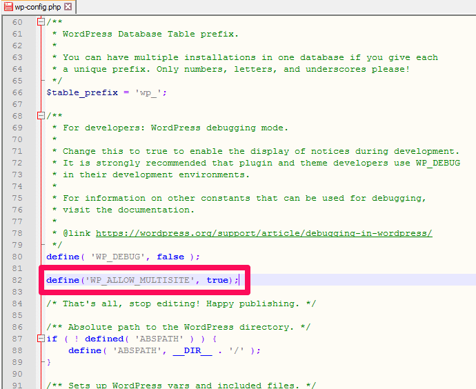 how to edit WordPress wpconfig file