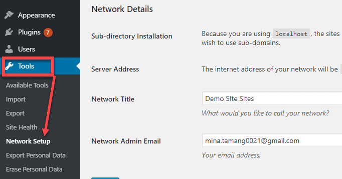 multi site network setup