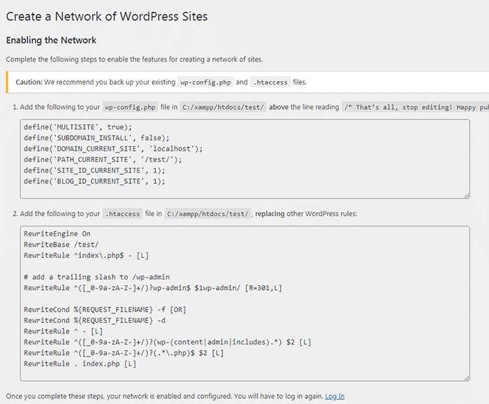 network setup instructions