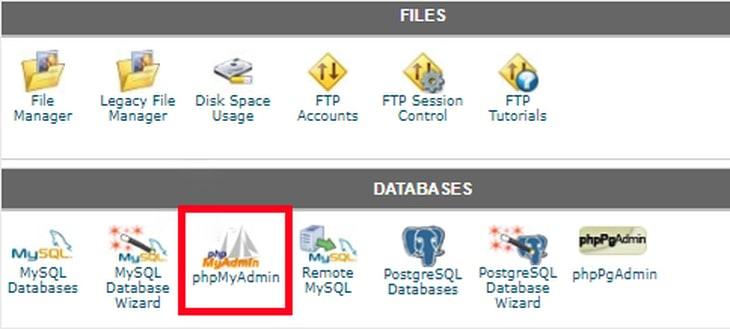 phpmyadmin in hosting