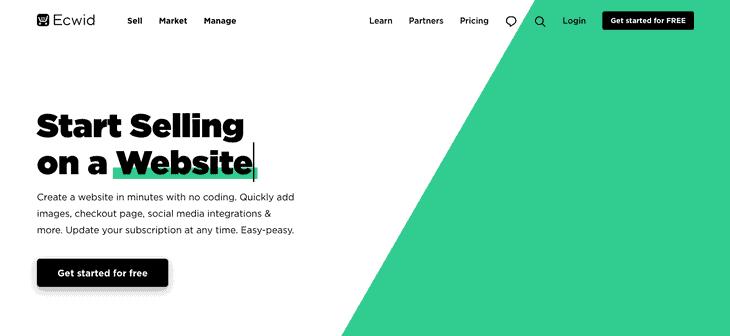 Ecwid E-commerce Website