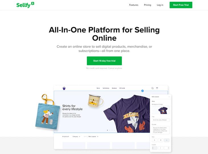 Sellfy WooCommerce website