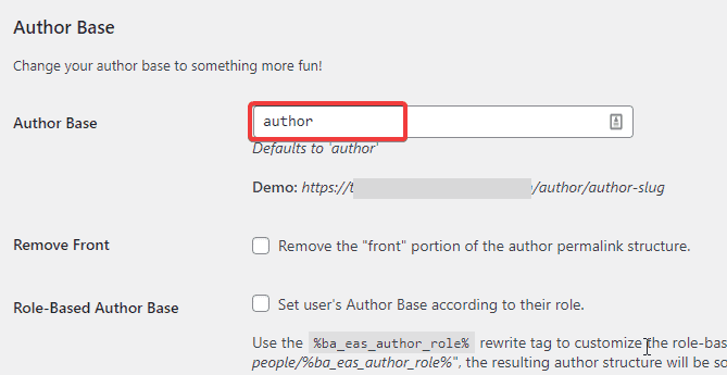 Assigning author base in the WordPress using plugin