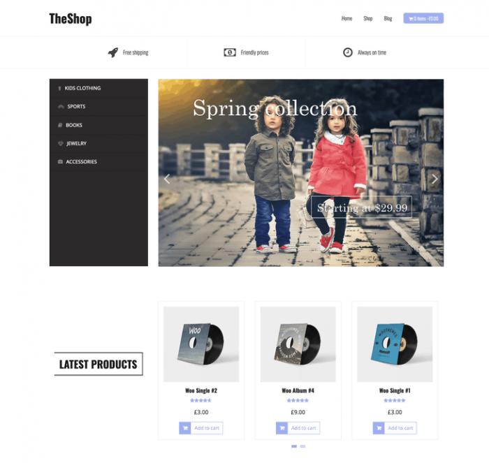 TheShop eCommerce WordPress Theme