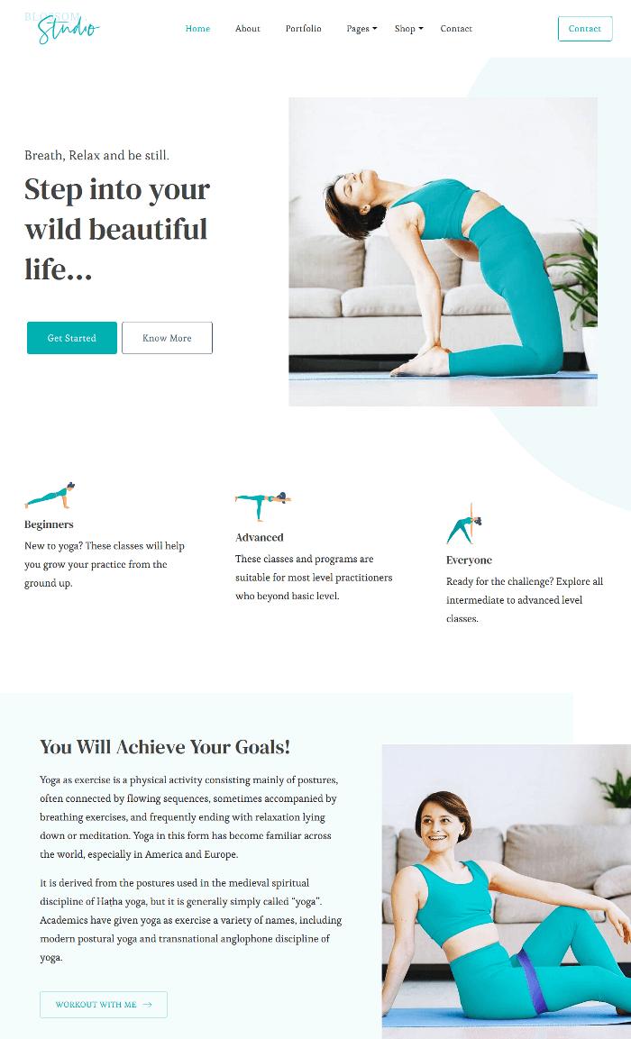 Blossom Studio WordPress Theme