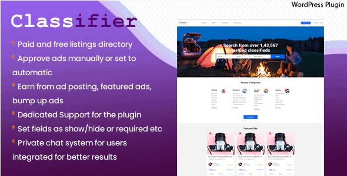 Classifier WordPress Plugin