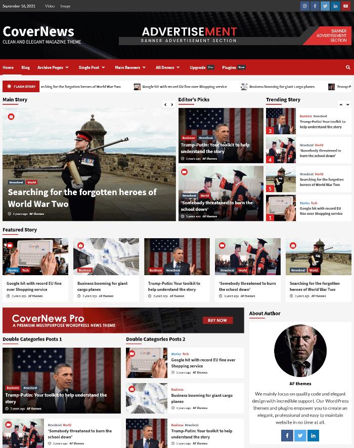CoverNews WordPress Theme