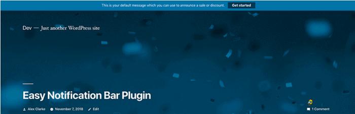 Easy Notification Bar WordPress Plugin