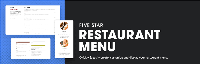 Five Star Restaurant Menu WordPress Plugin