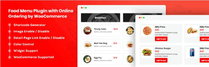 Food Menu WordPress Plugin