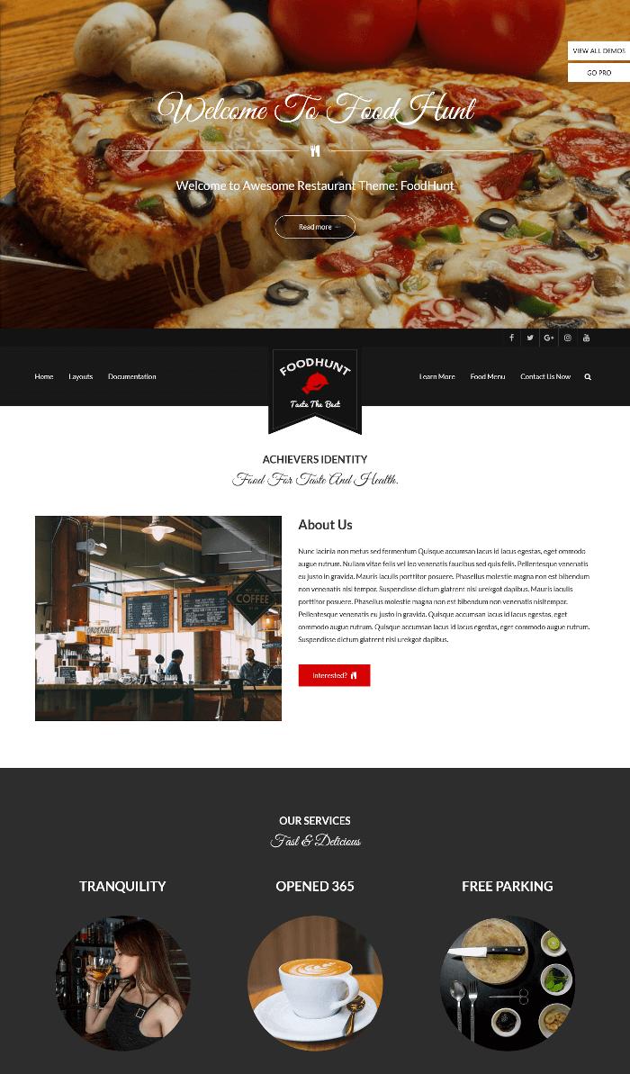 FoodHunt WordPress Theme