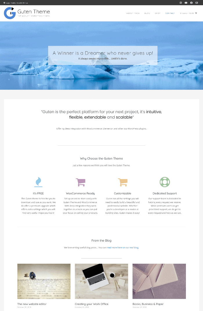 Guten WordPress Theme