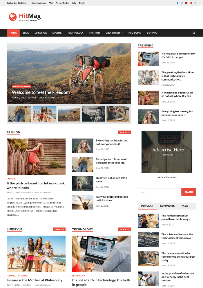 HitMag WordPress Theme