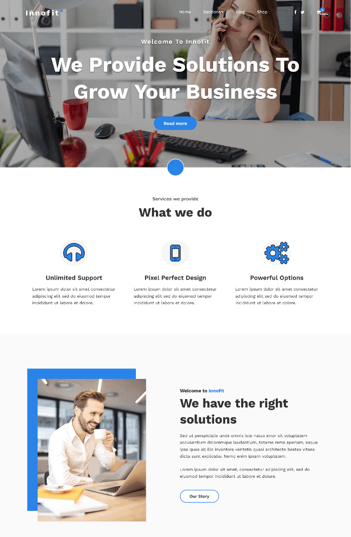 Innofit WordPress Theme