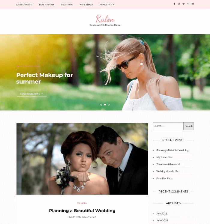 Kalon WordPress Theme