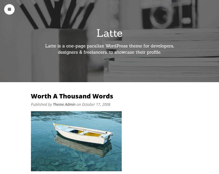 Latte WordPress Theme