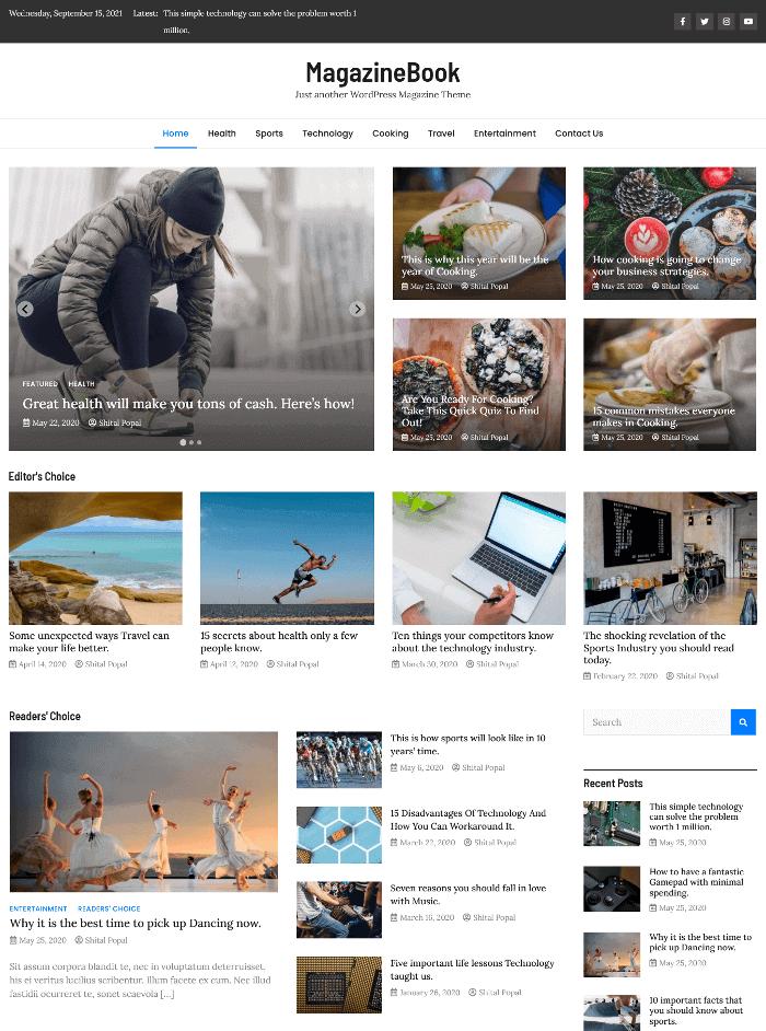 MagazineBook WordPress Theme