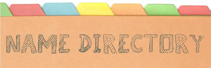 Name Directory WordPress Plugin