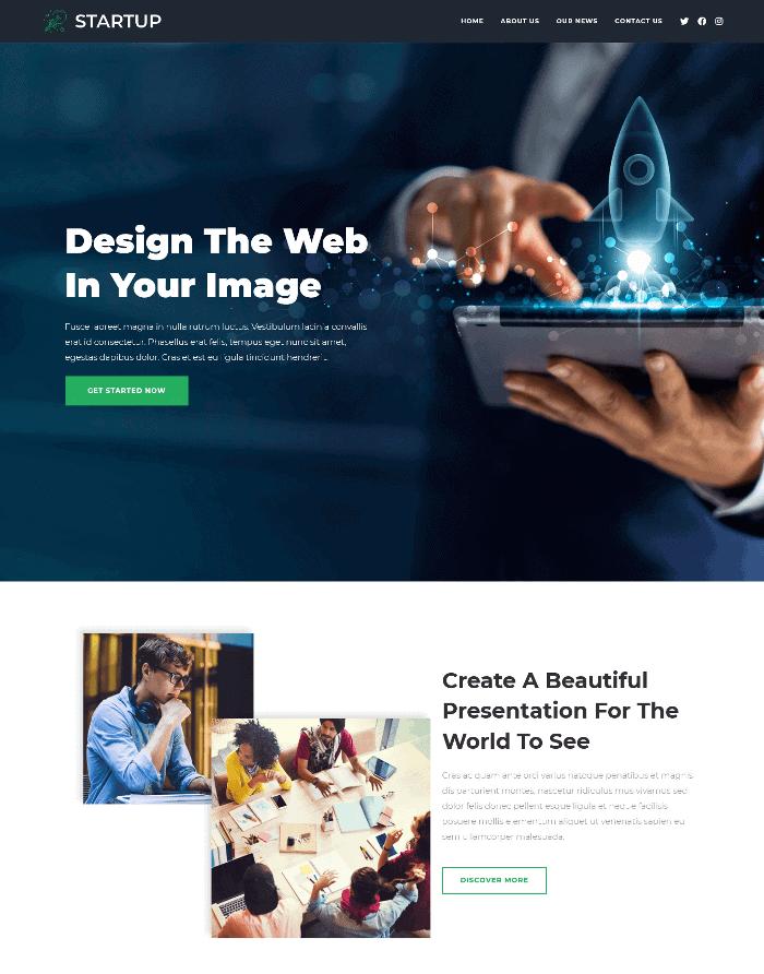 OceanWP Startup WordPress Theme