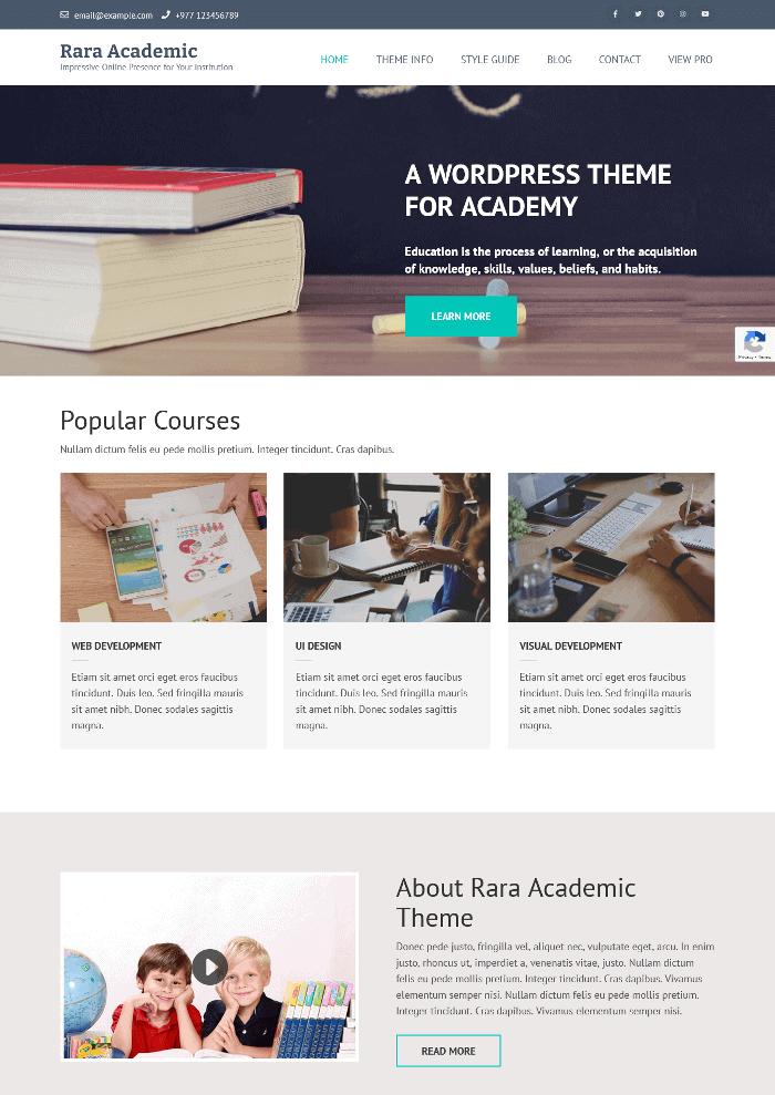 Rara Academic WordPress Theme