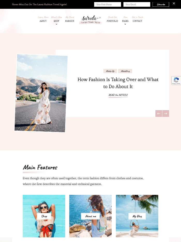 Sarada Lite WordPress Theme