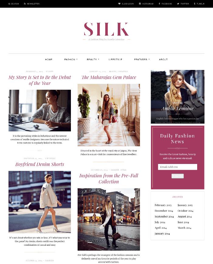 Silk Lite WordPress Theme