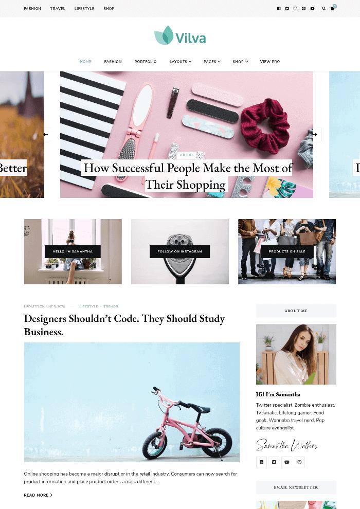 Vilva WordPress Theme