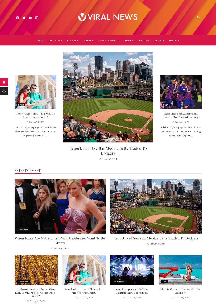 Viral News WordPress theme