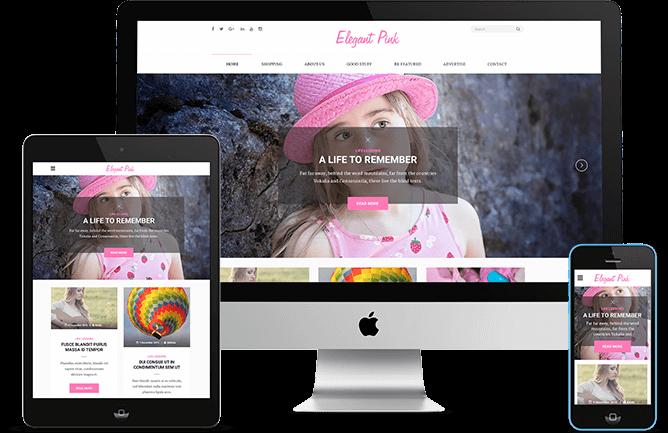elegant pink responsive design