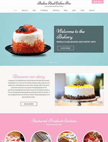 Bakes and cakes pro wordpress theme