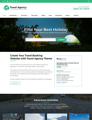 Travel Agency Preview